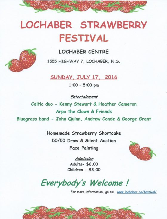 2016 Strawberry Festival Flyer