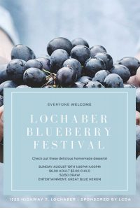 Lochaber Community Centre - Blueberry Festival