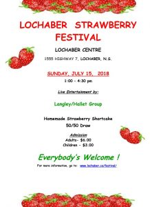 Lochaber - Strawberry Festival Poster 2018