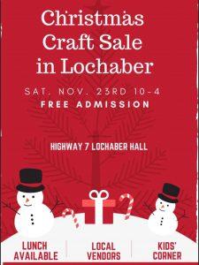 Lochaber - Christmas Craft Sale 2019