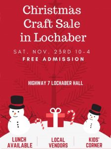 Lochaber - Christmas Craft Sale 2019
